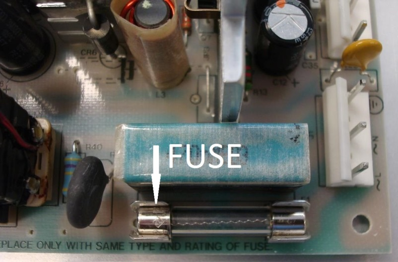 Brewer single board, Fuse in the main power supply