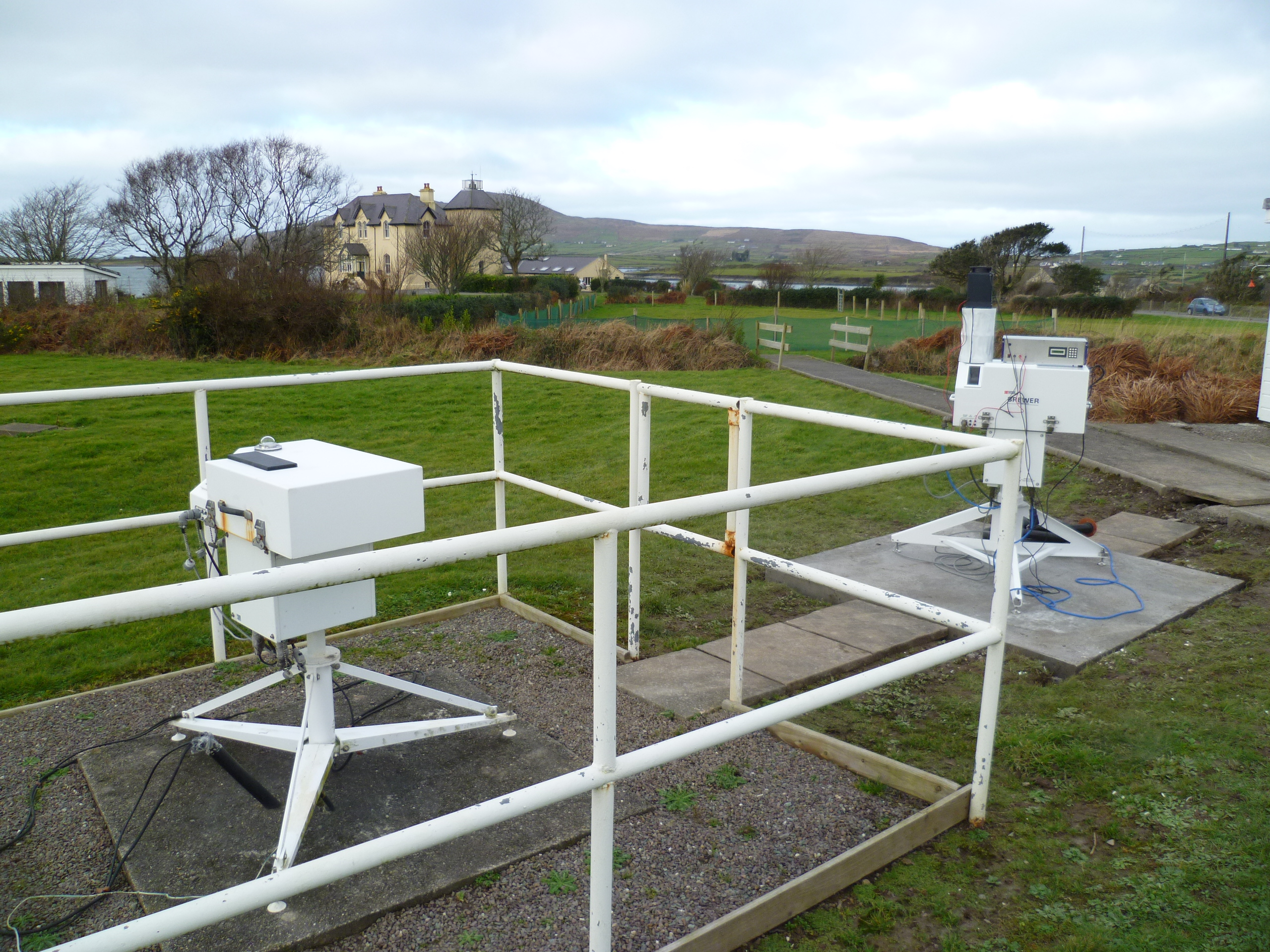 Brewer installation at the Valentia Observatory, Ireland