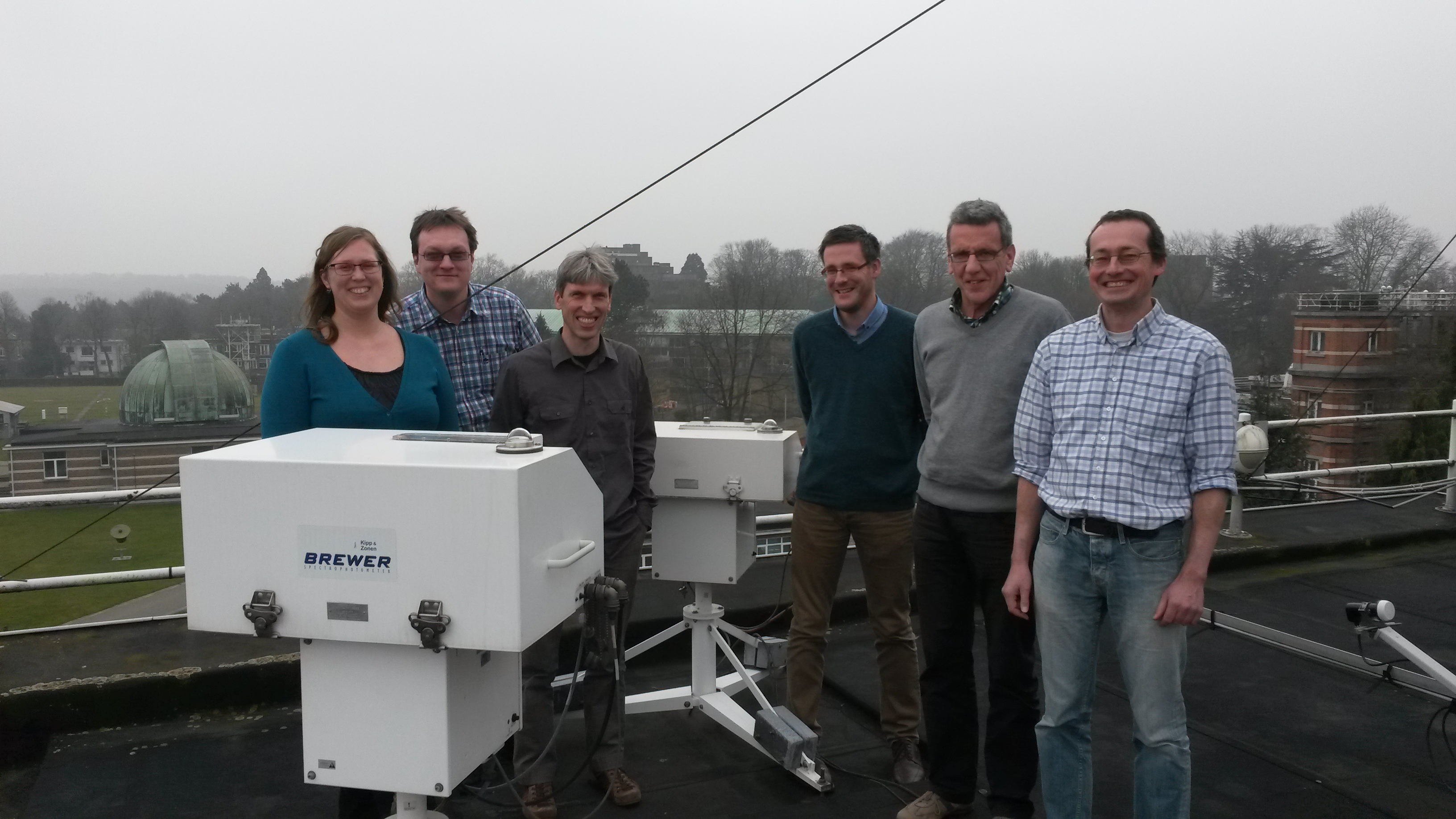 The team at the Royal Meteorological Institute of Belgium (RMIB)
