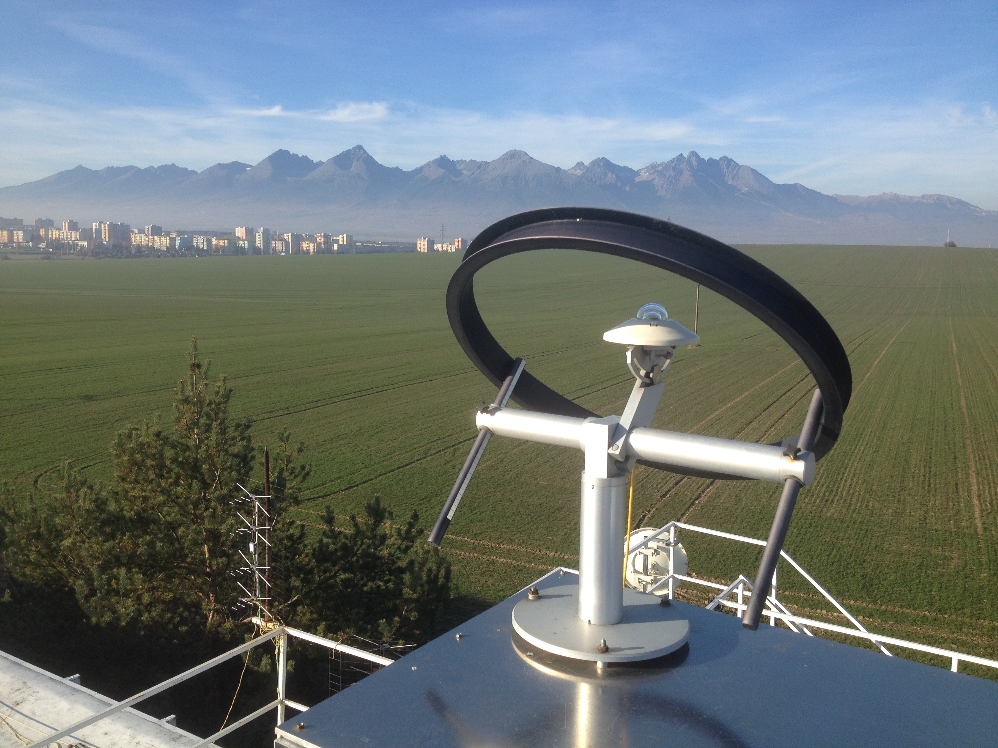 CMP pyranometer in Shadow Ring at Slovak Hydro-meteorological Office in Poprad-Ganovce