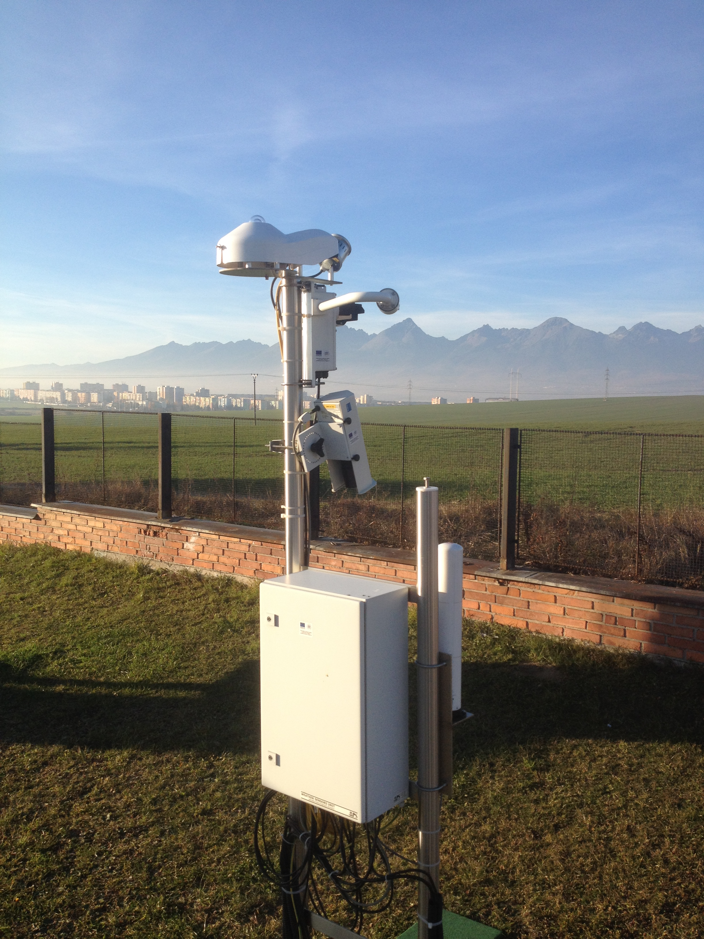 Ventilated pyranometer at Slovak Hydro-meteorological Office in Poprad-Ganovce